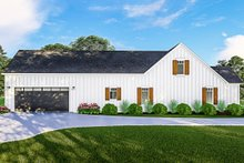 Dream House Plan - Farmhouse Exterior - Other Elevation Plan #406-9667