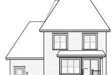 Home Plan - European Exterior - Rear Elevation Plan #23-818