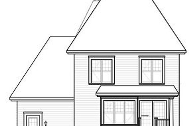 European Exterior - Rear Elevation Plan #23-818 - Houseplans.com