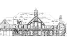European Exterior - Rear Elevation Plan #5-454