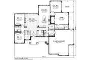 Ranch Style House Plan - 3 Beds 2.5 Baths 2899 Sq/Ft Plan #70-1427 Floor Plan - Main Floor Plan
