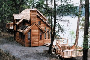 Cabin Exterior - Front Elevation Plan #118-171