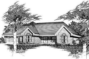 Cottage Exterior - Front Elevation Plan #329-162