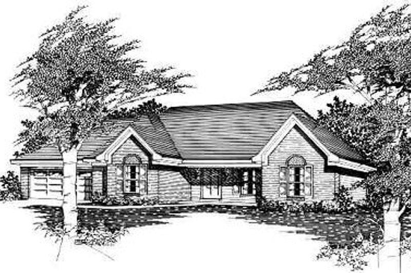 Cottage Style House Plan - 3 Beds 2 Baths 1163 Sq/Ft Plan #329-162 Exterior - Front Elevation