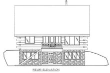 Home Plan - Log Exterior - Rear Elevation Plan #117-414