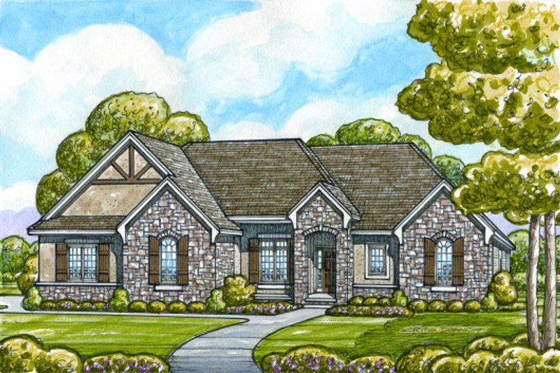 Craftsman Exterior - Front Elevation Plan #20-2131