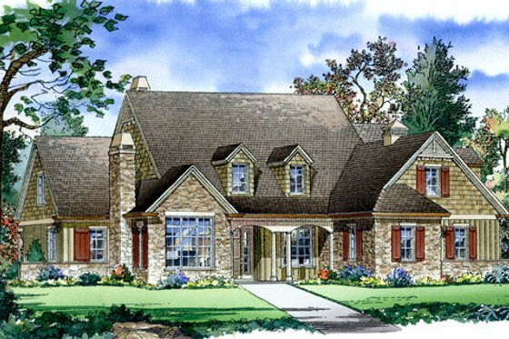 Traditional Exterior - Front Elevation Plan #490-10
