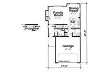 Traditional Floor Plan - Main Floor Plan Plan #20-1512