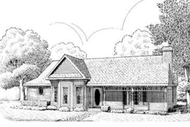 Victorian Style House Plan - 3 Beds 2 Baths 1669 Sq/Ft Plan #410-335