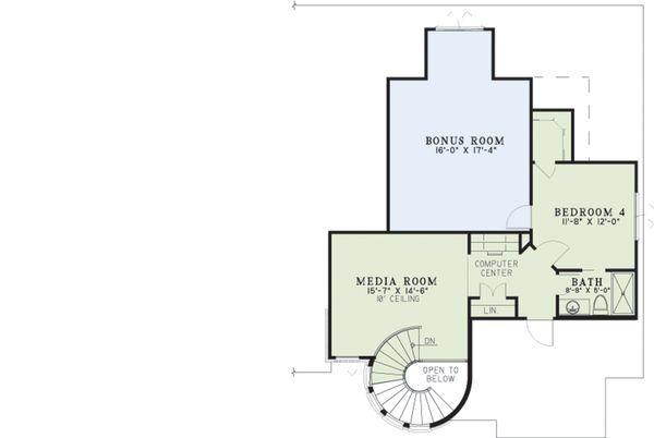 European Floor Plan - Upper Floor Plan Plan #17-2573