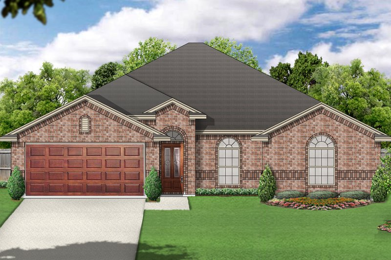 Traditional Exterior - Front Elevation Plan #84-578 - Houseplans.com