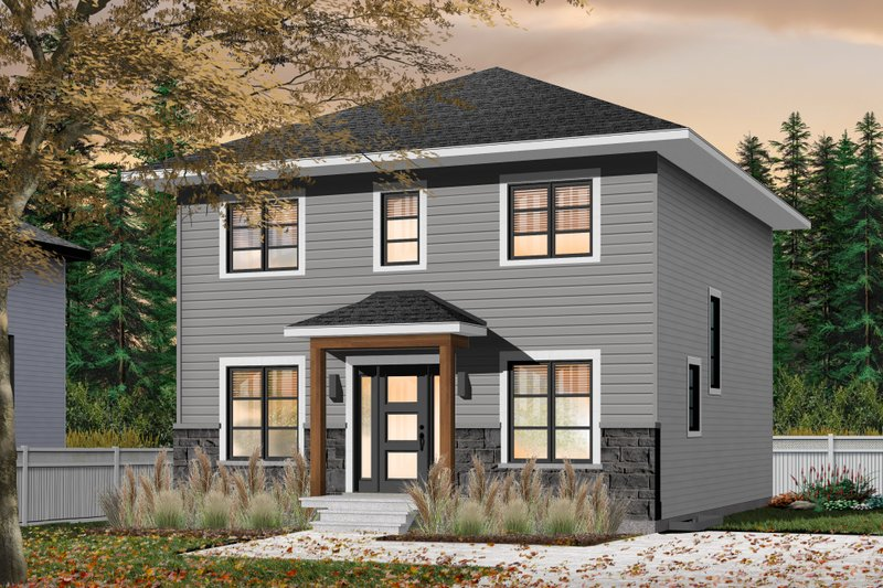 Traditional Style House Plan - 4 Beds 2 Baths 1680 Sq/Ft Plan #23-2306 Exterior - Front Elevation