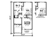 Traditional Style House Plan - 3 Beds 2.5 Baths 1540 Sq/Ft Plan #20-2456