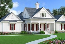 House Blueprint - Southern Exterior - Front Elevation Plan #45-600