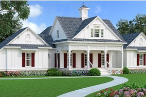 Dream House Plan - Southern Exterior - Front Elevation Plan #45-600