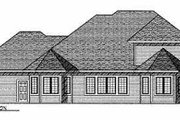 Country Style House Plan - 4 Beds 3.5 Baths 2996 Sq/Ft Plan #70-470 Exterior - Rear Elevation