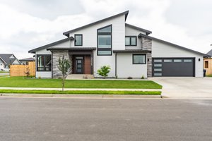 Contemporary Exterior - Front Elevation Plan #1070-153