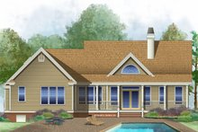 Architectural House Design - Country Exterior - Rear Elevation Plan #929-577