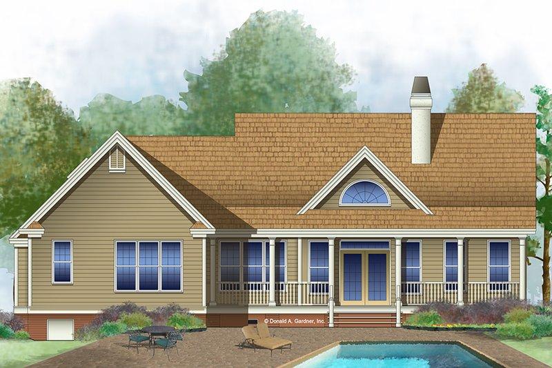 Country Exterior - Rear Elevation Plan #929-577 - Houseplans.com