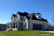 Country Style House Plan - 4 Beds 3.5 Baths 2586 Sq/Ft Plan #929-527 Exterior - Other Elevation