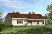 Cottage Style House Plan - 3 Beds 2 Baths 1288 Sq/Ft Plan #57-527 Exterior - Front Elevation
