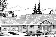 Ranch Style House Plan - 2 Beds 2.5 Baths 1233 Sq/Ft Plan #18-9202