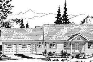 Ranch Exterior - Front Elevation Plan #18-9202