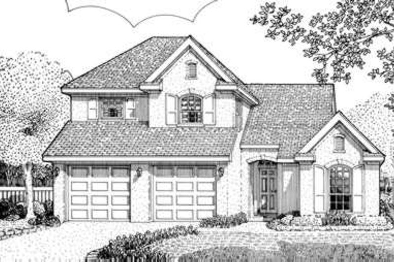 European Exterior - Front Elevation Plan #410-315