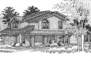 Bungalow Style House Plan - 4 Beds 0 Baths 2584 Sq/Ft Plan #320-153 Exterior - Front Elevation