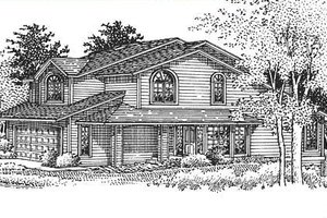 Bungalow Exterior - Front Elevation Plan #320-153