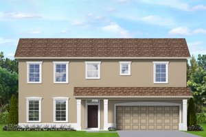 Architectural House Design - Traditional Exterior - Front Elevation Plan #1058-201