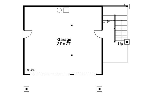 Craftsman Floor Plan - Main Floor Plan Plan #124-963