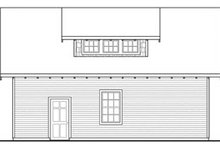 Craftsman Exterior - Rear Elevation Plan #124-800