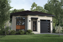 House Plan Design - Contemporary Exterior - Front Elevation Plan #25-4880