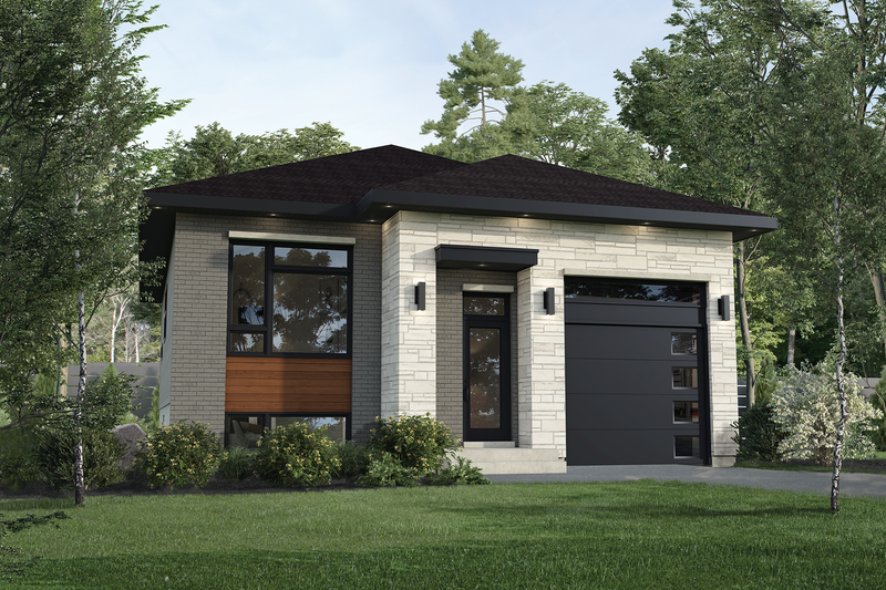 Contemporary Style House Plan - 2 Beds 1 Baths 1089 Sq/Ft Plan #25-4880 Exterior - Front Elevation
