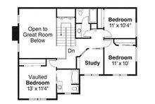 Craftsman Floor Plan - Upper Floor Plan Plan #124-845