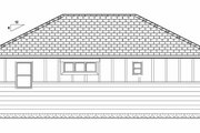 Bungalow Style House Plan - 1 Beds 1 Baths 672 Sq/Ft Plan #126-207 Exterior - Rear Elevation