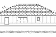 Home Plan - Bungalow Exterior - Rear Elevation Plan #126-207