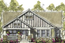 Home Plan - Cottage Exterior - Front Elevation Plan #20-1215