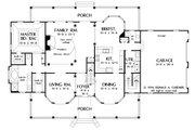 Farmhouse Style House Plan - 4 Beds 3.5 Baths 3163 Sq/Ft Plan #929-16 Floor Plan - Main Floor Plan