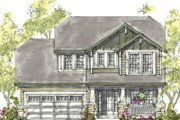 European Style House Plan - 3 Beds 2.5 Baths 1699 Sq/Ft Plan #20-1222 Exterior - Front Elevation