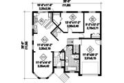 Victorian Style House Plan - 2 Beds 1 Baths 1132 Sq/Ft Plan #25-4532 Floor Plan - Main Floor Plan