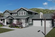 Craftsman Style House Plan - 5 Beds 3 Baths 3223 Sq/Ft Plan #1060-55 Exterior - Other Elevation