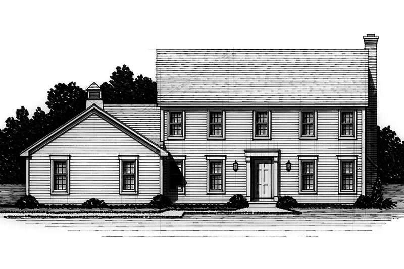 Classical Exterior - Front Elevation Plan #328-162