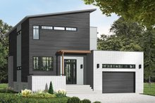 Dream House Plan - Modern Exterior - Front Elevation Plan #23-2700