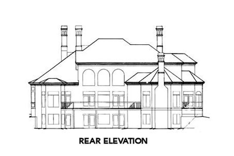 European Exterior - Rear Elevation Plan #429-9 - Houseplans.com