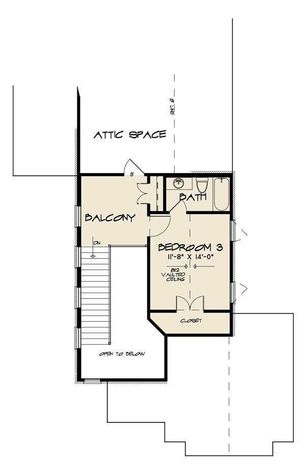 Dream House Plan - Contemporary Floor Plan - Upper Floor Plan #17-3422