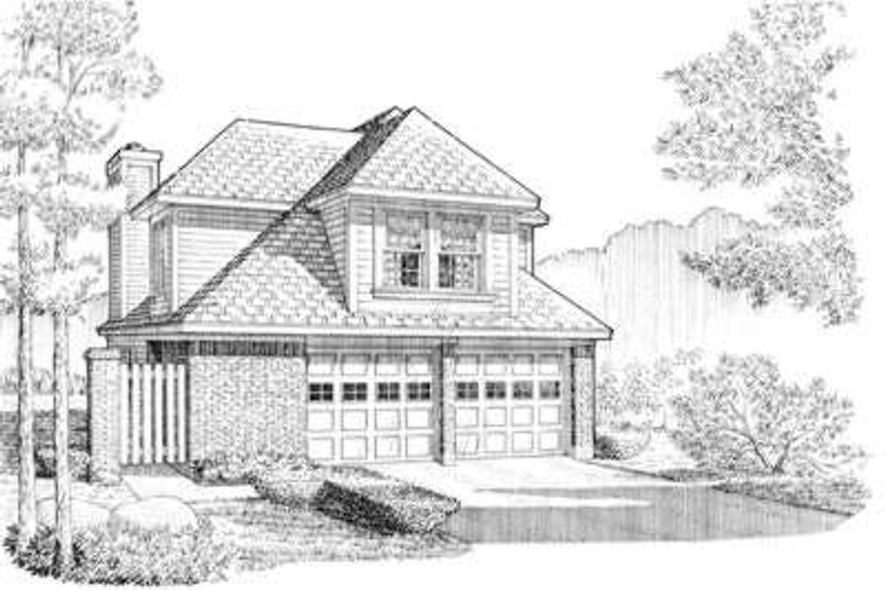 Traditional Exterior - Front Elevation Plan #410-298 - Houseplans.com