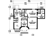 European Style House Plan - 7 Beds 4 Baths 5675 Sq/Ft Plan #25-4614 Floor Plan - Lower Floor Plan