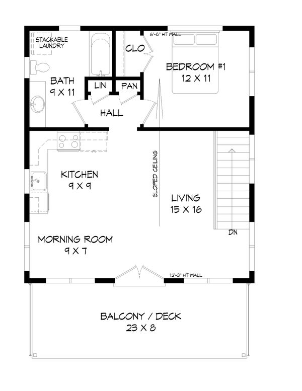 Contemporary Floor Plan - Upper Floor Plan #932-216